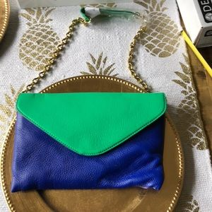 JCrew color block Clutch with strap